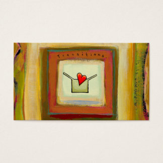 Transitions acceptance change hopeful art business card