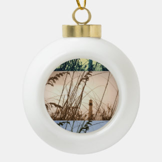 Transitions Ceramic Ball Christmas Ornament