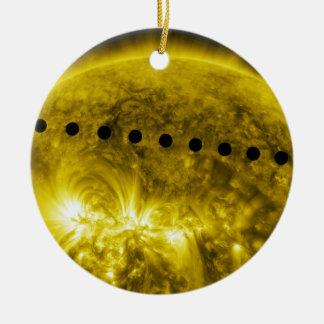Tránsito 2012 del planeta Venus a través del Sun Adorno De Navidad