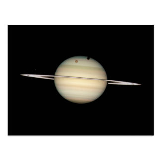 Tránsito cuádruple de la luna de Saturn Postal