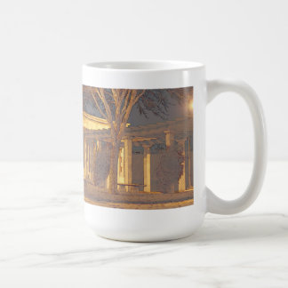 Tránsito de la noche taza de café