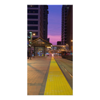 Tránsito ligero del carril en Minneapolis Tarjeta Fotográfica