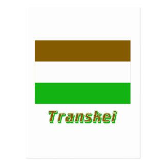Transkei Flag with Name Postcard