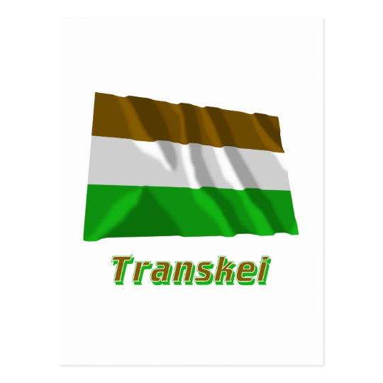 Transkei Waving Flag with Name Postcard