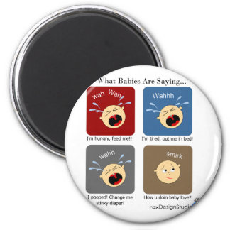 Translating Baby Expressions 2 Inch Round Magnet