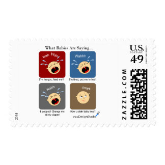 Translating Baby Expressions Postage Stamp