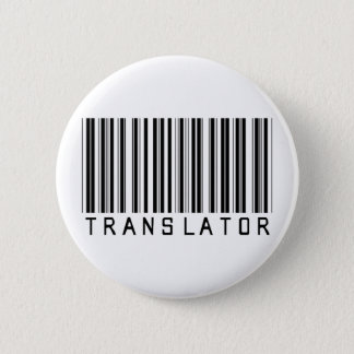 Translator Barcode Pinback Button