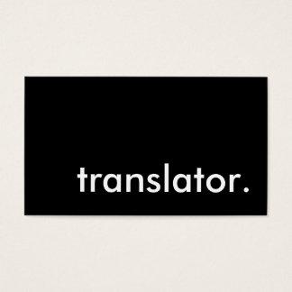 translator. business card
