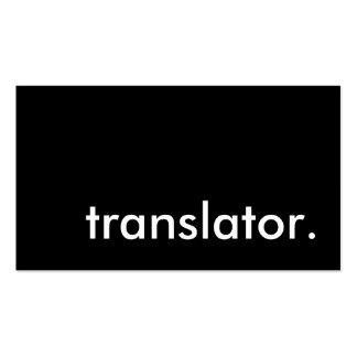 translator. business cards
