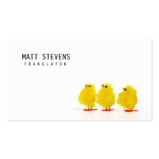 Translator Business Card Cute Chicks