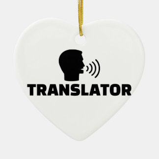 Translator Ceramic Ornament