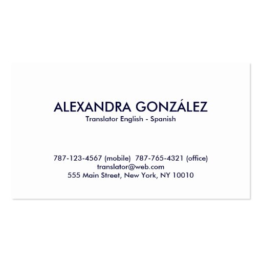 Business cards in spanish english to spanish translation mandegarfo business cards in spanish english to spanish translation colourmoves