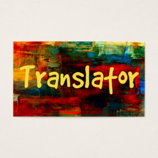 Translator in Paint Business Card