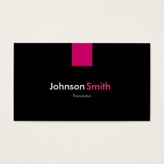 Translator Modern Rose Pink Business Card