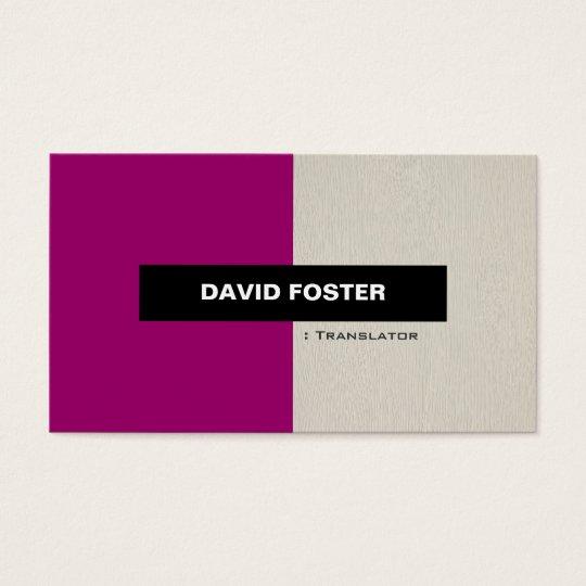 Translator - Simple Elegant Stylish Business Card