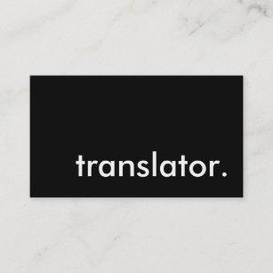 Interpreter business cards zazzle translator business card reheart Images