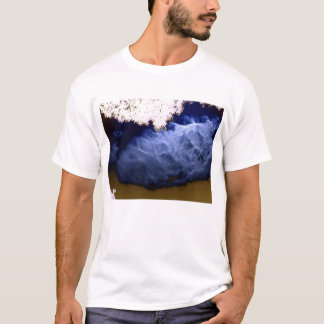 Translucent Blue Cloud Gold Sky and Negative Branc T-Shirt