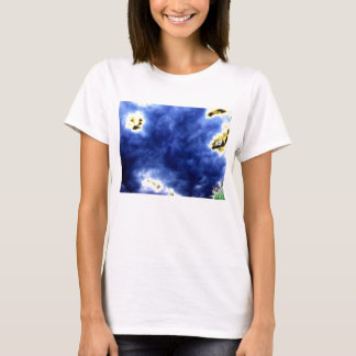 Translucent Blue Storm and Glowing Branches by KLM T-Shirt