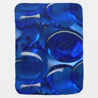 translucent clear blue glass bead pattern baby blanket