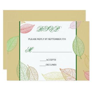 Translucent Fall Leaves - RSVP Card