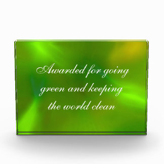 Translucent green acrylic award