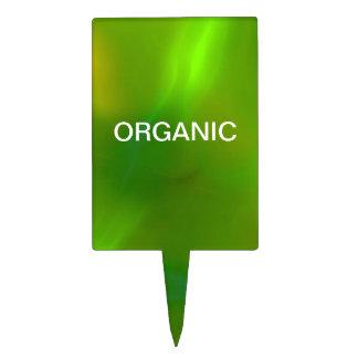Translucent green cake pick