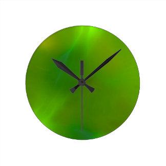 Translucent green round clock