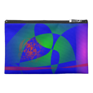 Translucent Green on Blue Background Travel Accessories Bags