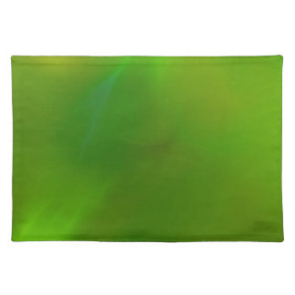 Translucent green cloth placemat
