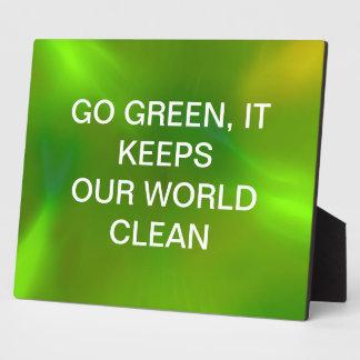 Translucent green plaques