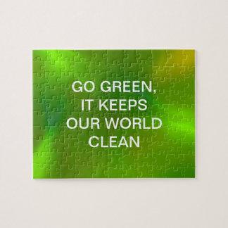 Translucent green puzzles