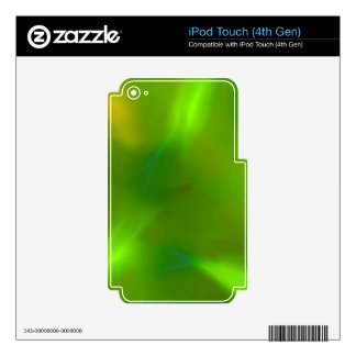 Translucent green iPod touch 4G skin