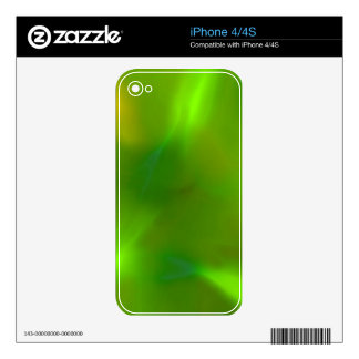 Translucent green skin for iPhone 4