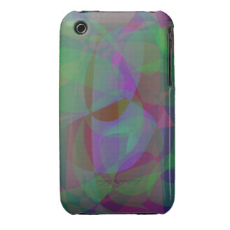 Translucent Layers Dark Green Abstract Case-Mate iPhone 3 Case