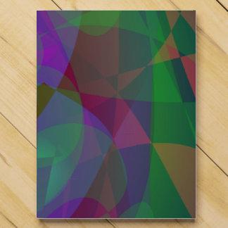 Translucent Layers Dark Green Abstract Chocolate Countdown Calendars