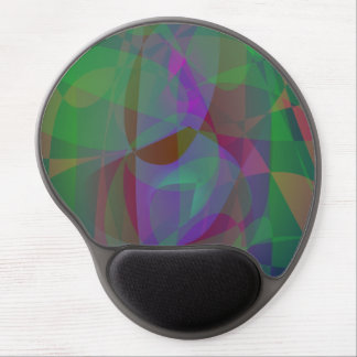 Translucent Layers Dark Green Abstract Gel Mouse Pad