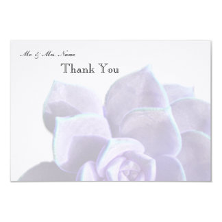 Translucent Lilac Succulent Thank You Card