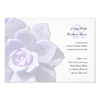 Translucent Lilac Succulent Wedding Invitation
