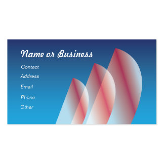 Translucent (scarlet) Tri-Sail Double-Sided Standard Business Cards (Pack Of 100)