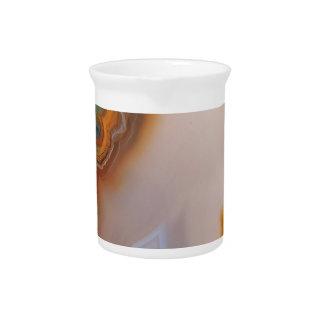 Translucent Teal & Rust Agate Beverage Pitcher
