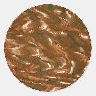 Translucent textured glass bottle classic round sticker