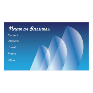 Translucent Tri-Sail Double-Sided Standard Business Cards (Pack Of 100)