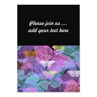 Transluscent Butterflies Abstract Art Card