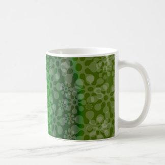 Transluscent flowes rainbow design clover coffee mug