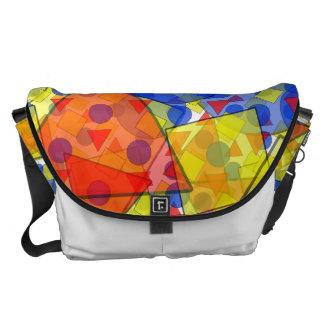 Transluscent Geometric Shapes Courier Bags