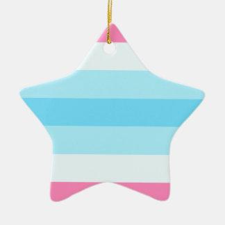 transmasculine flag ceramic ornament