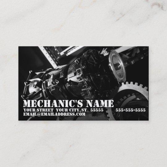 Transmission Mechanic Business Card Zazzle