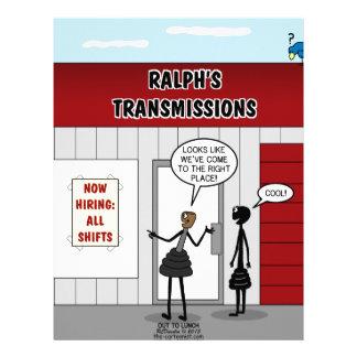 Transmission Shop Hiring All Shifts Letterhead