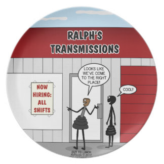 Transmission Shop Hiring All Shifts Melamine Plate
