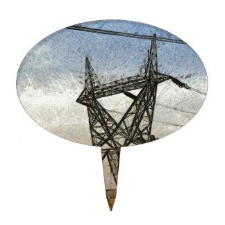 Transmission tower cake topper